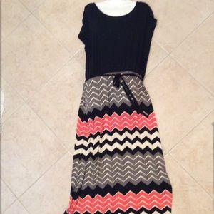 Design History Chevron Maxi Dress Size XL